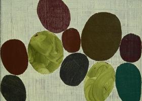 Arrangement no 25, 2007. 55 x 70cms. Acrylic on cotton duck