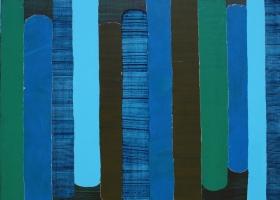 Arrangement no 3, 2007. 173 x 188cms. Acrylic on cotton duck