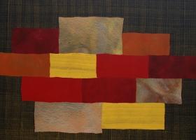 Arrangement no 37, 2008. 152 x 198cms. Acrylic on cotton duck