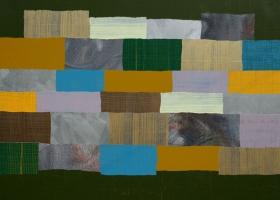 Arrangement no 41, 2008. 152 x 198cms. Acrylic on cotton duck