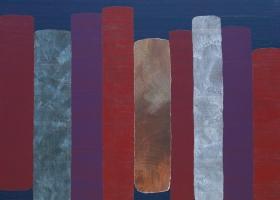 Arrangement no 9, 2007. 173 x 188cms. Acrylic on cotton duck
