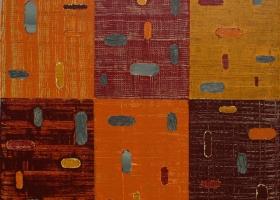 Anticlockwise 6, 7, 7, 888, 2015. 43 x 43cms. Acrylic on cotton duck
