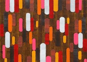Jamboree, 2015. 142 x 158cms. Acrylic on cotton duck