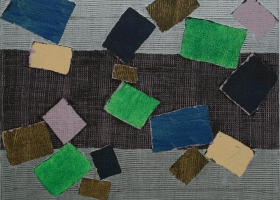 Tumble and Fall no 3, 2008. 40 x 48cms. Acrylic on cotton duck